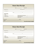 House rent receipt template page 1 preview