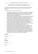 Sample employee confidentiality agreement letter  page 1 preview