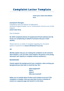 Complaint letter template (UK) page 1 preview