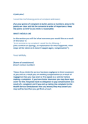 Complaint letter template (UK) page 2 preview