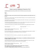 Canadian patient consent form page 1 preview