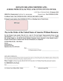 Estate death certificate template (Iowa) page 1 preview