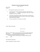 Affidavit of successor trustee page 1 preview