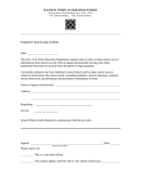 High school parent release form page 1 preview