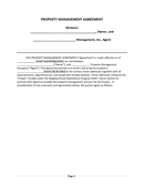 Rental Housing Property Management Agreement page 2 preview