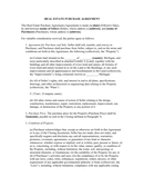 Real estate purchase agreement page 1 preview
