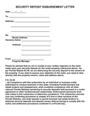Security deposit disbursement letter page 1 preview