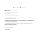Security deposit receipt form page 1 preview