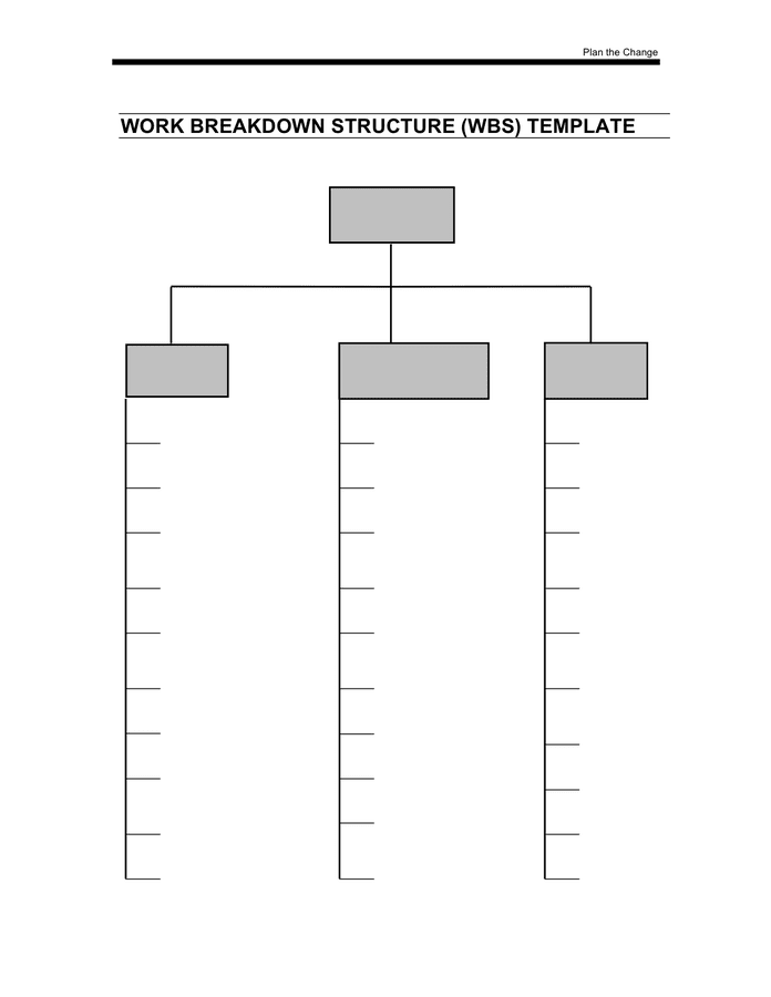 Work Breakdown Structure Template In Word And Pdf Formats