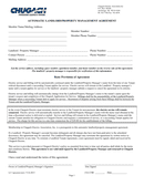 Automatic landlord/property management agreement page 1 preview