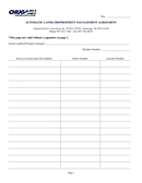 Automatic landlord/property management agreement page 2 preview