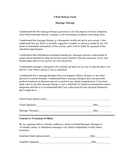 Massage cabinet client release form page 1 preview