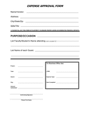 Expense approval request form page 1 preview