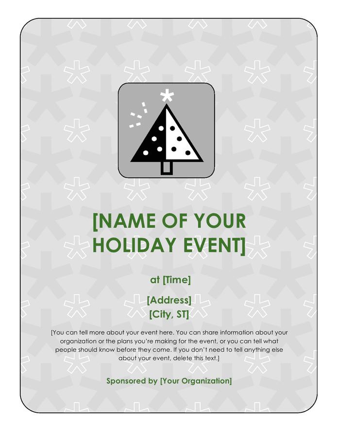 Holiday event flyer preview