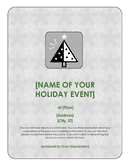 Holiday event flyer page 1 preview