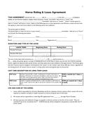 Horse riding & lease agreement page 1 preview