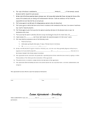 Horse lease agreement page 2 preview