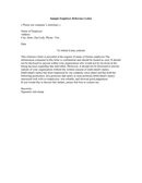 Personal Reference Letter