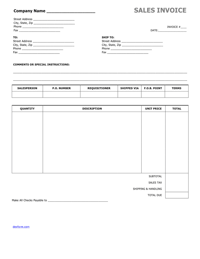 Simple Invoice Template In Word And Pdf Formats