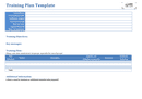Training plan template page 1 preview