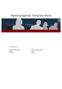 Meeting agenda template page 1 preview