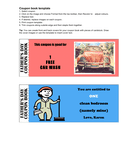 Coupon book template page 1 preview
