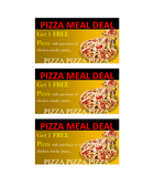Free pizza coupon template page 1 preview