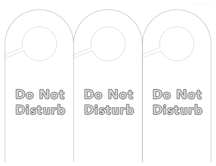 Do not disturb door hanger template preview