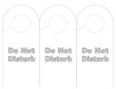 Do not disturb door hanger template page 1 preview