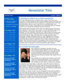 Email newsletter template page 1 preview