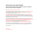 Career break cover letter template page 1 preview