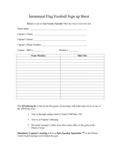 Basketball sign up sheet template page 1 preview