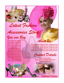 Fashion poster template page 1 preview