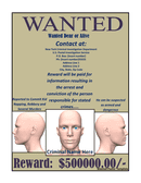 Wanted poster template page 1 preview