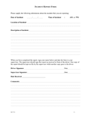 Incident report form page 1 preview