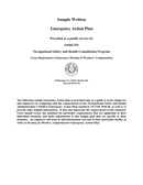 Sample written emergency action plan page 1 preview