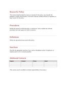 Policies and procedures template page 2 preview