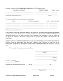Affidavit under the small estates act (Tennessee) page 2 preview