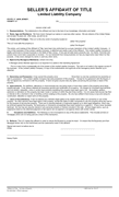 Seller's affidavit of title (New Jersey) page 1 preview