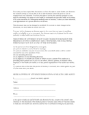 Statutory medical power of attorney (Texas) page 2 preview
