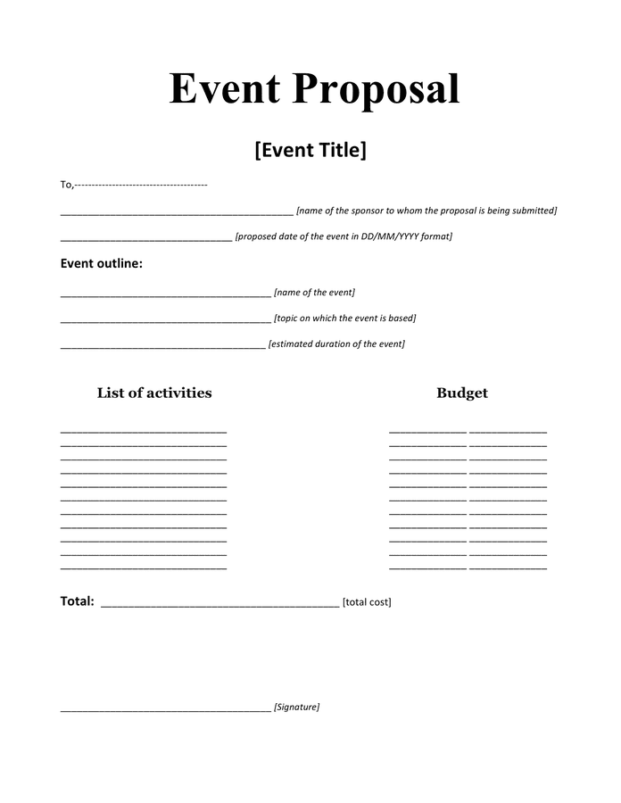 Event Proposal Sample from static.dexform.com