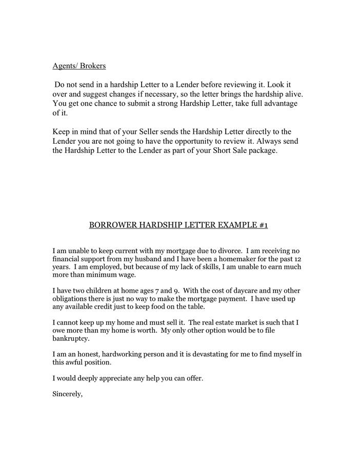 Hardship Letter To Mortgage Lender from static.dexform.com