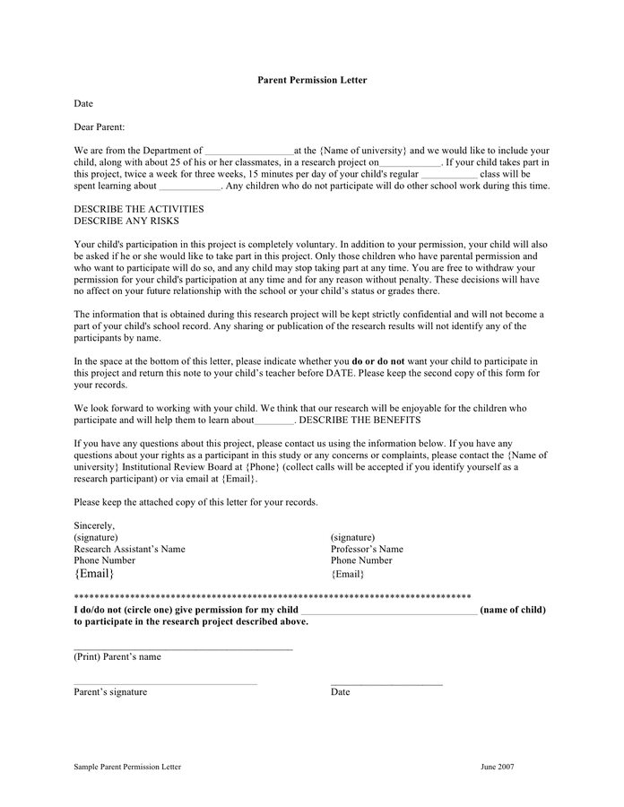 Letter Of Permission From The Parents from static.dexform.com