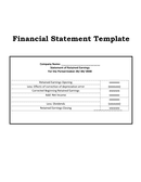 Financial statement template page 1 preview