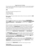 Letter of Support Sample
