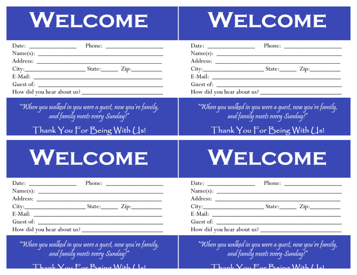 Visitor card template preview
