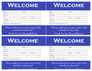 Visitor card template page 1 preview