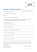 Amendment of employment contract page 1 preview