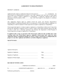 Agreement to hold property page 1 preview