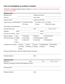 Accident and incident report form page 1 preview